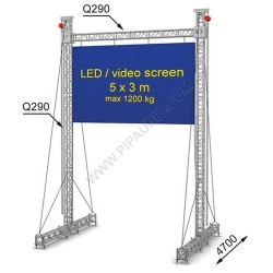 LED screen construction 5 x 3 m