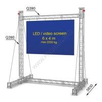 LED screen construction 6 x 4 m