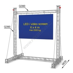 LED screen construction 6 x 4 m