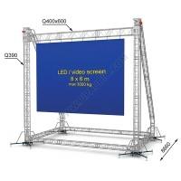 LED screen construction 8 x 6 m