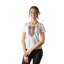 Woman's t-shirts with folklore motive 007
