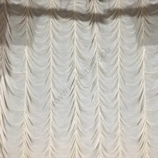 Draped stage curtain